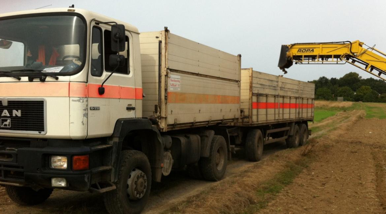 Abtransport von Zuckerrüben